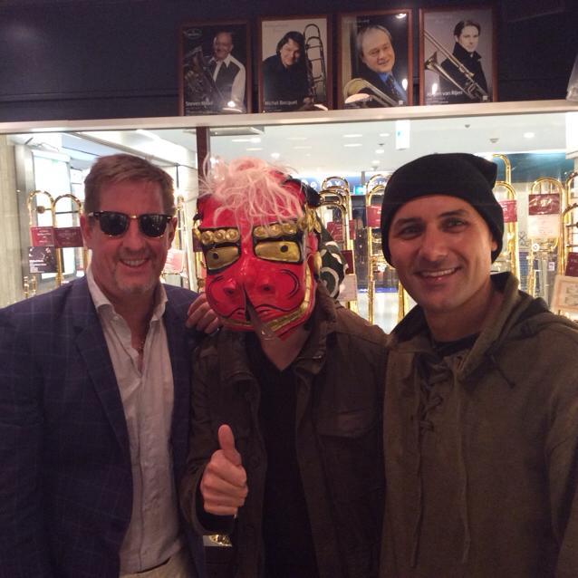 スティーブ・ロッセさんとセルジオさんと私